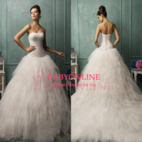 Cheap A-Line Amelia Sposa wedding Best Reference Images Strapless a line wedding dresses