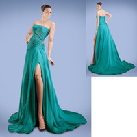 Cheap Reference Images Side Front Prom Dress Best Strapless Chiffon Prom Dresses