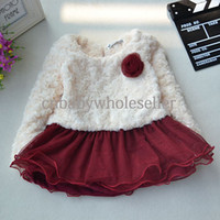 TuTu Winter A-Line Hot Sale Infant Dress Solid Roses Thickened Girls Dresses For Christmas Children Clothes Wholesale GD40829-16
