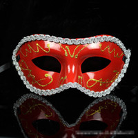 big cat paintings - 30pcs Colors Half face Gold Powder Flower around Painting Halloween Masquerade Mask Venetian Party Mask Mardi Gras Mask