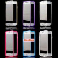For Apple iPhone TPU+PC  Touch Screen Open Window View TPU Full Body Case Cover For Apple IPhone 6 4.7'' 5G 5S 5 Samsung Galaxy S5 I9600 Noe 3 N9000 Flip Skin Cases