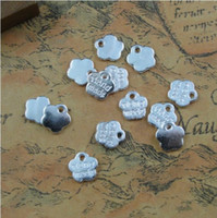 Wholesale DIY Antiqued Silver Vintage Alloy Hand made Words Pendant Charms Handmade Accessories mm