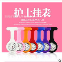 Unisex watch silicon gel - Nurse Watch Medical Silicon Silicone Gel Clip Pocket Watches Doctor watch with Pin DHL