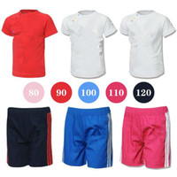 Wholesale Baby s Suits Tshirt Short Pants Colors Sizes Y Short Sleeve Outfits Sets Outwear Baby Clothing