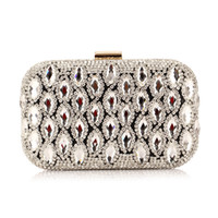 Wholesale 2014 Bridal Hand Bags Wedding Accessories Evening Prom Party Hand Bag Swarovski crystals Hote Sale Retro Fashion Elegant Luxury Purse