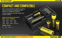 Wholesale NITECORE D2 New I2 LCD Digicharger Universal Intelligent Charger Retail Package with Cable For Li ion Ni MH battery in stock D