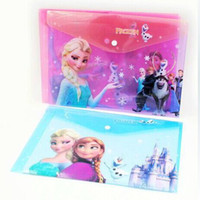 Wholesale Frozen A4 folder Cartoon Envelope Anna Elsa Snow toys crown buttons