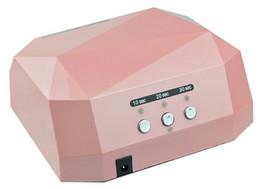 Wholesale Quick CCFL UV LED Lamp W V V Nail Dryer for UV Gel Nail Polish pink colors