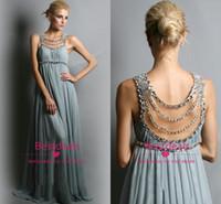 Crystal chiffon prom dresses long 2015 sheer scoop neckline ...