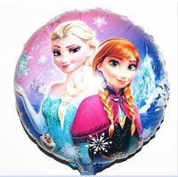 Wholesale 45 cm Frozen Cartoon bubble balloon party decoration foil Aluminium Coating balloons