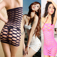 Wholesale New Sexy Lingerie Mini Dress with Open Holes Dance Club Tight Dress Dropshipping b11 SV001337
