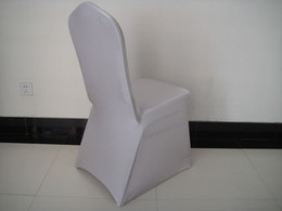 100PCS MOQ: silver spandex banquet chair cover with free shipping for wedding,party,hotel decoration use
