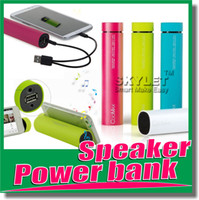 Wholesale 4000mah Speaker Powerbank mini sound box portable speaker External charger Music player powerbank for iPhone s Iphone Samsung s4 s5 w