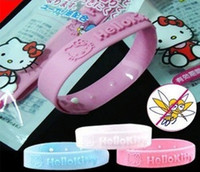 Cheap FREE SHIPPING 3pcs KT cat mosquito repellent bracelet essential oil insect repellent silicone bracelet [9901809]
