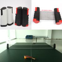 Wholesale New PE Portable Retractable Telescopic Table Tennis Net Rack Replacement Pingpong Kit Black Grey