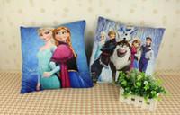 Wholesale Cartoon Movie Theme Elsa Anna Whole Family Plush Pillow Soft Cushion X32CM