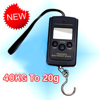 Spring Kitchen Scales  S5Q 40kg LCD Portable Weighing Hanging Fishing Luggage Kitchen Digital Scales AAAADU