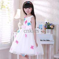 TuTu Spring / Autumn A-Line 2014 Newest Girls Wedding Dresses Bows White Princess Kids Dress For Korean Style Children Clothes GD40829-9