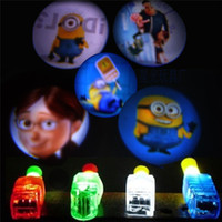 Wholesale Elsa Anna Frozen Finger Projection Angry Bird Finger Toys Plants vs Zombie Finger Projection Laser Finger Lights Party Glow Christmas Gift