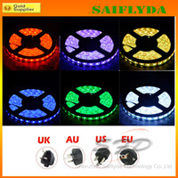 Wholesale Best Christmas Lights Waterproof RGB Led Light Strips M Leds IR Remote Controller key V A Power Supply