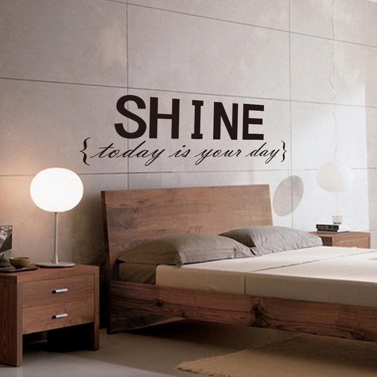 Amazing SHINE Wall Sticker Quotes Vinyl Wall Decor Decals Wall Stickers Home Decor Bedroom  Wall Stickers Wall Art Stickers Online With $8.75/Piece On Flylifeu0027s ...