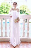 Reference Images Scoop Chiffon 2014 New Fashion Luxury Prom Dresses Heavy Beaded Chiffon Fancy Dubai Women Kaftan Abaya Evening Dress Elegant Long Brand Party Dresses T4