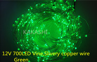 Wholesale New V Led Silvery Copper Wire String Fairy Lights Party Christmas Decoration Holiday Wedding Blue Red white Purple green