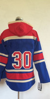 Cheap Wholesale #30 Henrik Lundqvist Pullover Hooded Sweatshirt Hockey Jackets New Style All Teams Outdoor Uniform size 48-56 free shipping