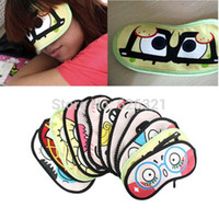 Wholesale New Cute Facial Expression Eye Mask Cover Shade Blindfold Sleeping Travel Sleep Aid Cover Light Guide Gift Free Ship
