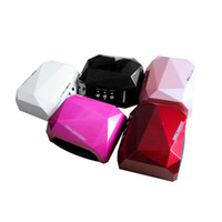 Wholesale 5Color CCFL W LED Light Diamond Shaped Best Curing Nail Art Polish Dryer Nail Art Lamp Care Machine for UV Gel Nail Polish EU Plug H10560