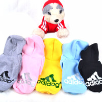 Wholesale Pet Dog Clothes Clothing Coat Hooded Cotton Sweater Dog Apparel Hoodie Costume For Pet Fashion Design