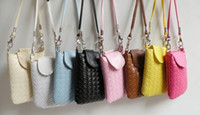 Handbags Mini(<20cm) Cell Phone Pocket Free Shipping, Lowest Price Fashion Cell Phone bag, PU Leather Handbags, women Wallet 8 Colors