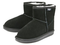 Wholesale 2014NEW EMU Bronte Mini W20003 Cow Suede Genuine with Wool inner Winter Snow Boots color emu01 black