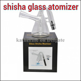 Glass Shisha Atomizer E cigarette Pyrex Glass Hookah Wax Water Pipe Teapot Style for ego t ego vv 510 eGo Battery in retail box 2014 newest