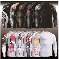 Wholesale PRO tights male clothes play high speed dry T shirt take long sleeve CPD fitness dress compression pressure