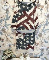 Wholesale Girls fashion union jack flag dress set long sleeve dress kids girl casual stylish dress HD036