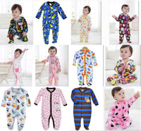 Wholesale Newborn romper Baby Rompers Fleece Foot Cover babywear Baby Sleepwear W153