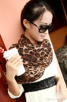 Wholesale Fashion Brown Velvet Chiffon Silk Leopard Animal Infinity Scarf Chiffon Loop Scarf Price