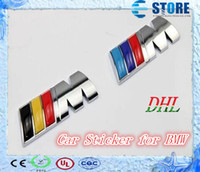 Wholesale Metal M Grill Car Emblem Front Set Chrome Auto Hood Badge Emblem M3 M5 M6 M Tec Tech M SPORT J