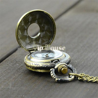 Cheap Wholesale-New 2014 hot selling Vintage Bronze Steampunk Quartz jewelry Chinese Zodiac design pendant pocket watch with chain 18963