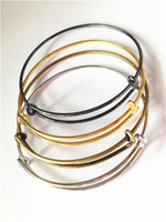 Wholesale 12pcs mm diameter DIY Bangles wiring bracelet for beading or charms Alex and Ani style expandable bangle