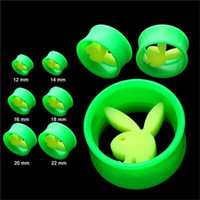 Acrylic, Resin, Lucite ear stretching kit - Punk Fashion Playboy Ear Tunnels Acrylic Ear Tapers Ear Plugs Stretching Kit Ear Gauges Women Men Jewelry mm