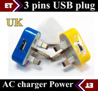 uk charger - DHL UK Wall Charger AC Power Adapter for Android Tablet pc Pins UK Plug USB Charger colors JE5