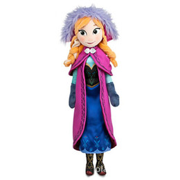 Wholesale 2016 Hot Sale Unisex Push Silicone Reborn Dolls for Frozen Doll Plush Toys New cm Princess Elsa Anna Brinquedos Kids Dolls for Girls