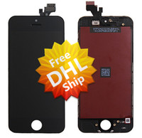 """For Apple iPhone LCD Screen Panels > 3"""" 100% Original LCD Screen Replacement For iPhone 5 5G LCD With Touch Screen Digitizer Assembly Black&White Free DHL Ship"""