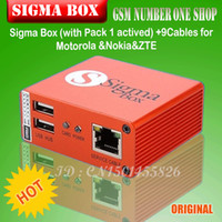 Wholesale The newest version sigma box with cables with Pack activation for t MTK based Motorola Alcatel Huawei ZTE and Lenovo