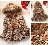 baby details - Details about Winter Baby Girls Kids Faux Fur Leopard Hoodie Coat Clothes Jacket Clothes
