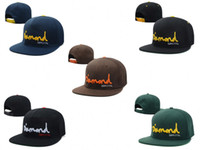 Cheap Cheap Diamond Supply Co Og Script Snapback Black Navy Hat Cap Golden Letters Wholesale Popular Fitted Snapbacks Caps Hats Free Shipping