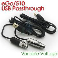 Mini ego vv USB Passthrough Batterie USB Tension Ecig Variable Batterie 3.0-4.8V pour ce5 de CE4 protank mt3 atomiseur