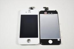 Écrans 4s en Ligne-Écran tactile d'affichage d'affichage à cristaux liquides pour l'iPhone 4 / 4S / 4 CDMA avec l'anti-poussière de l'écouteur a installé l'expédition libre pour la garantie d'1 an